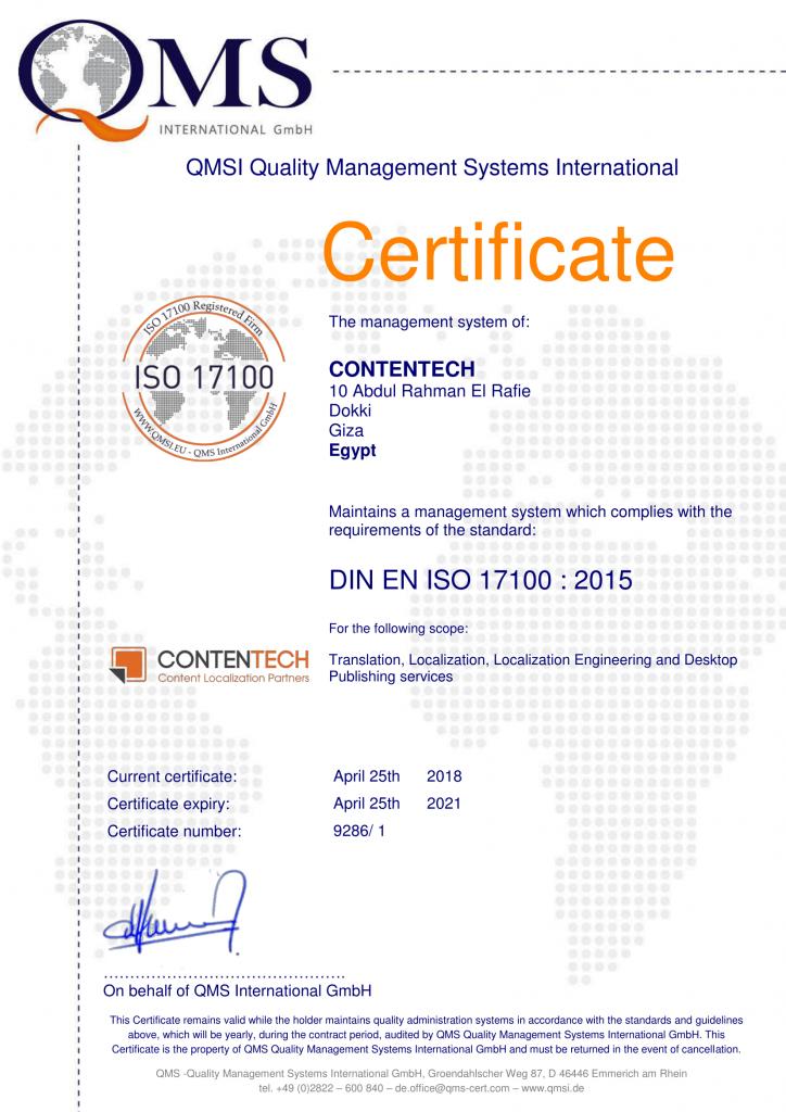 Contentech Recognized For Translation Services Contentech